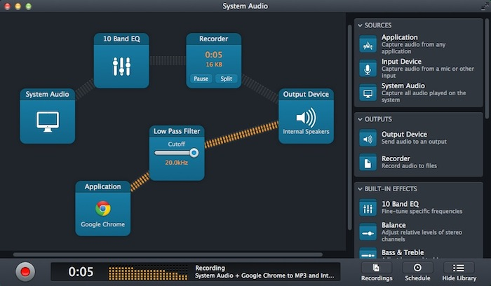 Mac OS X系统内录工具Audio Hijack