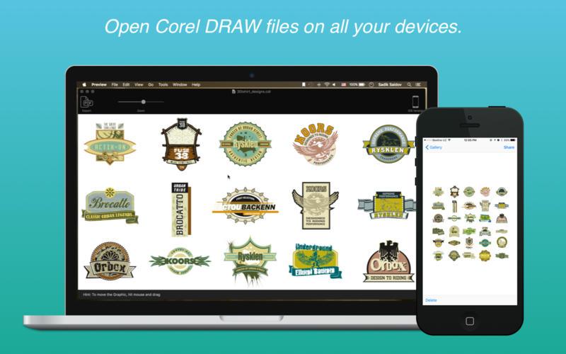 在Mac上打开CorelDRAW文件:CDRViewer Pro