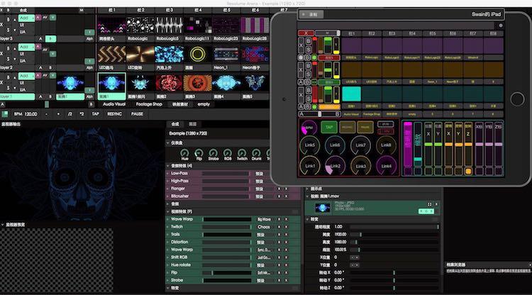 Resolume Arena TouchOSC控制界面:自动获取素材名称